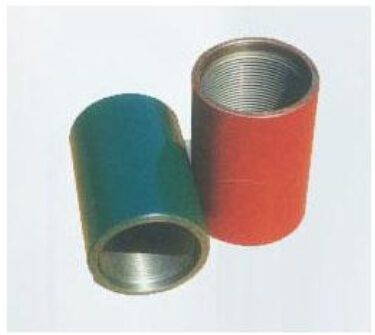 Steel pipe coupling for casing pipes